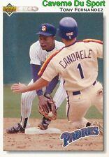 272 TONY FERNANDEZ SAN DIEGO PADRES BASEBALL CARD UPPER DECK 1992