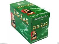 Zig Zag Green Tobacco Rolling Papers Cut Corner - FULL BOX of 100 BOOKLETS