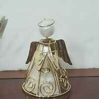 Kurt Adler Gold Metal Wire Angel w/ Pearl Head Christmas Ornament
