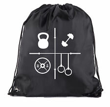 Power Lifting mochilas, Fitness Levantamiento de Pesas Gimnasio Bolsas-entrenamientos con cordón