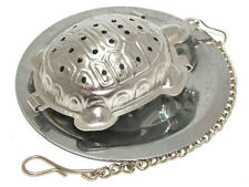 Stainless steel turtle shape tea infuser with tray