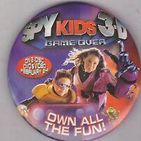 "VINTAGE 3"" PINBACK #28-160 - MOVIE - SPY KIDS 3-D: GAME OVER"