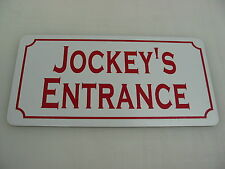 Jockey'S Entrance Sign 4 Horse Farm Ranch Barn Country Club Track Hay