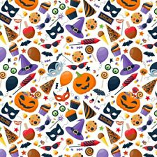 NON PERSONALISED HALLOWEEN WITCH HAT PUMPKIN WRAPPING GIFT WRAP PAPER LARGE