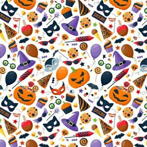 HALLOWEEN WITCH HAT PUMPKIN WRAPPING GIFT PRESENT FAVOUR PARTY WRAP PAPER