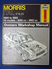 Haynes Owners Workshop Manual Morris Ital 1980 to 1982 1.7 2.0 All models (1712)