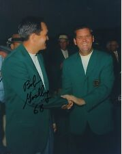 BOB GOALBY HAND SIGNED 8x10 PHOTO+COA           WEARING HIS MASTERS GREEN JACKET