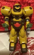 1990's-2000's Gundam Style Yellow Battle Robot Action Figure