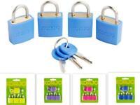 KORJO 4 Luggage Locks Set Pack of 4 Travel Padlock Blue/Yellow/Pink/Purple LLC40