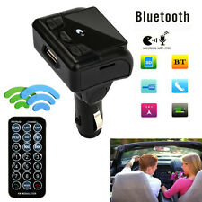 Car Bluetooth Wireless FM Transmitter AUX Radio Adapter MP3 Handsfree Call Black