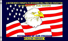 3x5 In Memory of Our Troops Defenders Of Our Freedom Fallen Heroes Flag 3'x5'