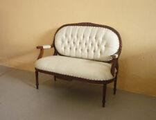 Divano divanetto st.Luigi XVI, intagliato, particolari dimensioni, '900!