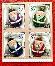 US SC#3887-3890,  37c Christmas Ornaments Booklet Block of 4