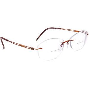 Silhouette Eyeglasses 5521 70 2540 Titan Brown Rimless Frame Austria 51[]17 140