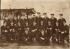 "1925 original photo -  group photograph officers  h.m.s. calliope "" porstmouth"