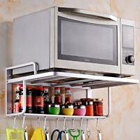 Space Aluminum Hanging Microwave Oven Rack Stand Kitchen Storage Shelf Organizer
