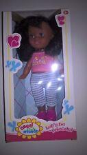 Doll Ethnic/African American/Hispanic/Indian/Dark Skin 11 inches Pink Top