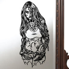 Halloween Zombie Sexy Girl Woman Mirror Window Static Cling Re-usable Removable