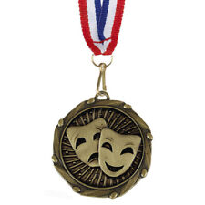 More details for drama / theatre medals with ribbon - engraved free your message - free p+p