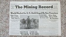1944 Mining Record-Gold Market-Western Mining-Nevada Mine Photographs