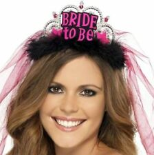 BRIDE TO BE TIARA AND VEIL LADIES HEN NIGHT HEN PARTY FANCY DRESS ACCESSORY
