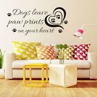 Black Dogs Leave Paw Prints Saying Vinyl Art Wall Sticker Quote Decal Home Decor