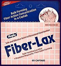 Rugby Fiber-Lax 60 Captabs Laxative Bulk-Forming Fiber Action