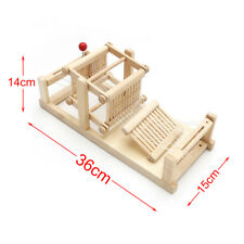 Creative Classic Wooden Table Weaving Loom Machine Model Hand Craft Toys
