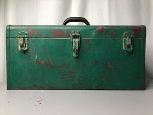 VTG KENNEDY KITS TOOLBOX TOOL BOX STORAGE TACKLE MODEL K-20 GREEN