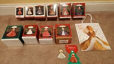 Barbie Hallmark Ornaments Holiday 1993-1999/Club Editions/Pins:  Set of 13 - MIB