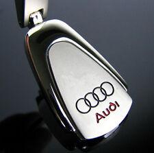 AUDI Stainless Steel  KeyRing Chain A1 A3 A4 A5 A6 Q3 Q5 Q7 TT R8