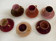 Classic Coffee & Tea  Set of (6) Cups Mugs & Saucers,  Never Used