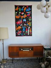 Wandvorhang Stoff Bild Naive Kunst Wandteppich TRUE VINTAGE art tapestry fabric