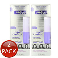 2 x JOHN FRIEDA FRIZZ EASE SHEER SOLUTION LIGHTWEIGHT SERUM CONTROL ELIXIR 59ml