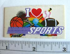 The Rainbow Factory Rare Vintage Transparent Sticker - I Love Sports