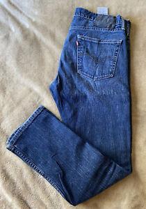 Levi's Jeans 511 Label Size 34 waist 30 leg Dark Blue