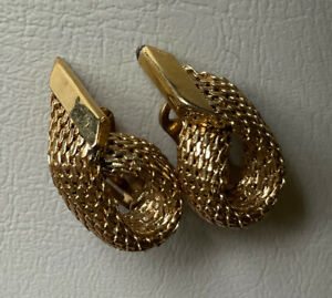 VINTAGE GOLD TONE / PLATED  CLIP ON EARRINGS
