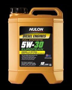 Nulon EURO Full Synthetic EUROPEAN Diesel or Petrol Engine Oil 5W-30 10 Litre