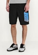 MENS NIKE SHORT CLUB FLEECE GX SIZE M (727780 010) BLACK / BLUE