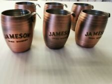 6x Jameson Irish Whiskey Copper-Coloured Tin barrel 50ml shots.
