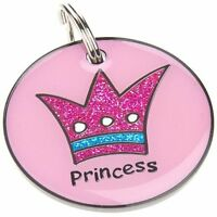 Engraved Pet Tags DOG ID Princess 25mm Disc Engraved Free By Computer Free Post