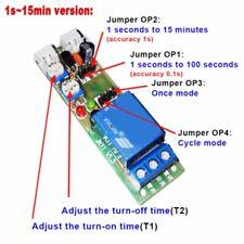 12V Verstellbar Zeitrelais Modul Verzögerungsschalter Delay Ein/Aus Schalter