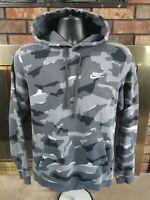 Nike Camo Camouflage Spellout Swoosh Logo Hoodie Hooded Sweatshirt Mens Sz Small