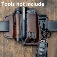 Men Multitool PU Leather Sheath EDC Pocket Organizer Storage Belt Waist Bag