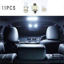2019 11x White Super White LED Bulb Interior Package Light Kit  For Honda Car