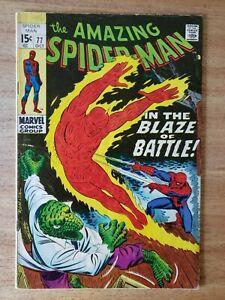 AMAZING SPIDER-MAN #77 (1969) 4.0 Lizard & Human Torch App. John Romita Cover