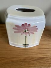 New CROSCILL Ceramic Square Tissue Kleenex box Cover Holder