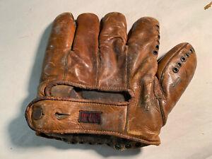 Vintage HUTCH baseball glove Cinconnati Ohio - leather - missing strings
