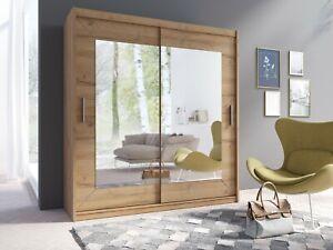 Kleiderschrank 22KZ1577 Schwebetürenschrank Schrank mit Spiegel Schiebetür