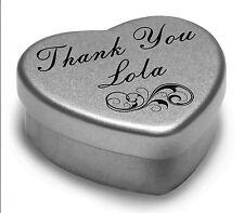 Dire GRAZIE Lola con un cuore MINI TIN Regalo con cioccolatini